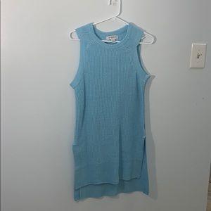 Light blue knitted dress